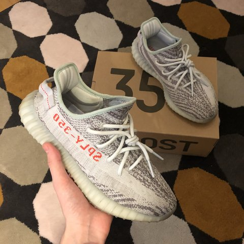 023613c868b Pre-Owned Adidas Yeezy Boost 350 V2 Blue Tint    UK Size 8   - Depop