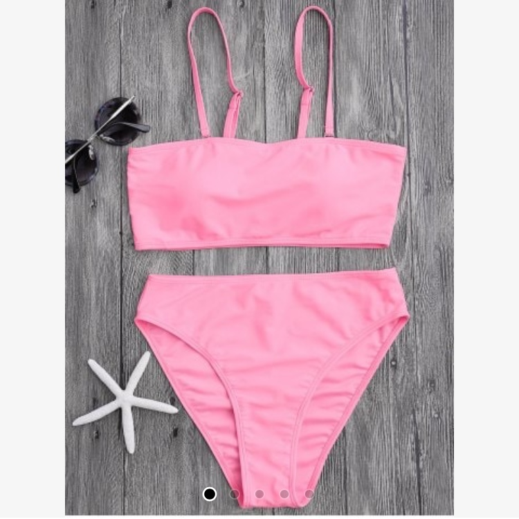 71db1187529 @grlinthecurl. last year. Islip, United States. NEW ! Hot pink high rise bikini  set