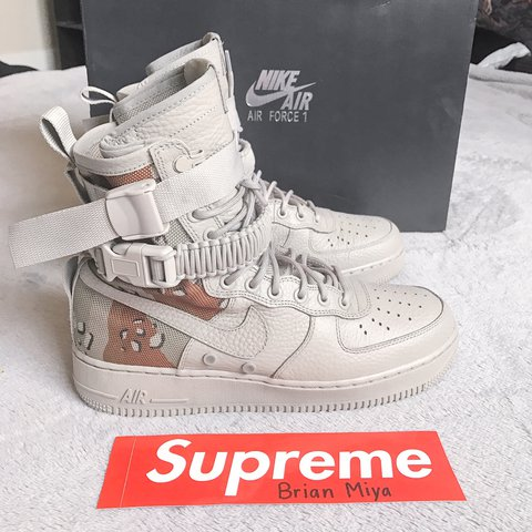 1356b466afc33e Nike SF AF1 Special Field Air Force One Chino Classic Stone - Depop