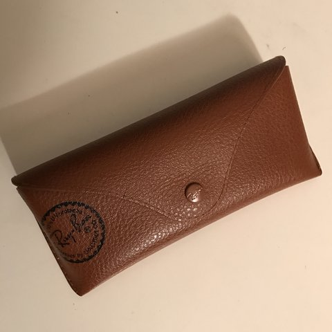 bb203c32ac1f20 Authentic brown leather Ray Ban sunglasses case!  rayban - Depop