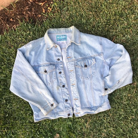 554847b050 TOTALLY 80 s! This vintage denim jean jacket by Attrak Denim - Depop