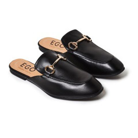 af647271a @abigayleng. last year. Hale, United Kingdom. EGO black Gucci style loafers/mules.  UK size 5