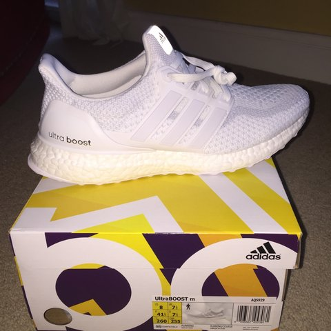 Adidas Ultra Boost 2.0 Triple White trainers. Brand new in . - Depop c3da5ba56