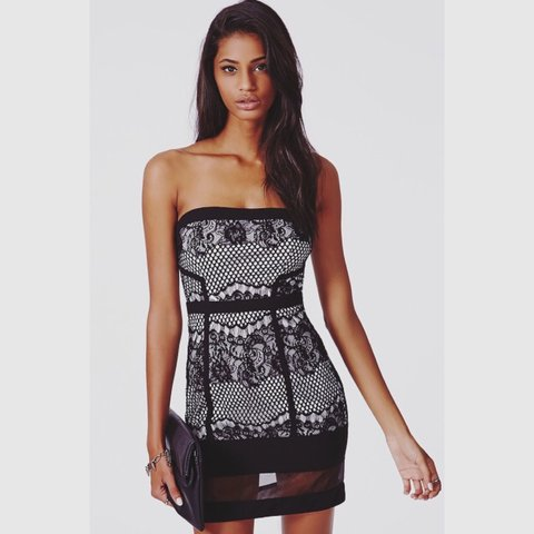 134bd283a2b MISSGUIDED black lace bandeau dress. BRAND NEW with tags! 8. - Depop