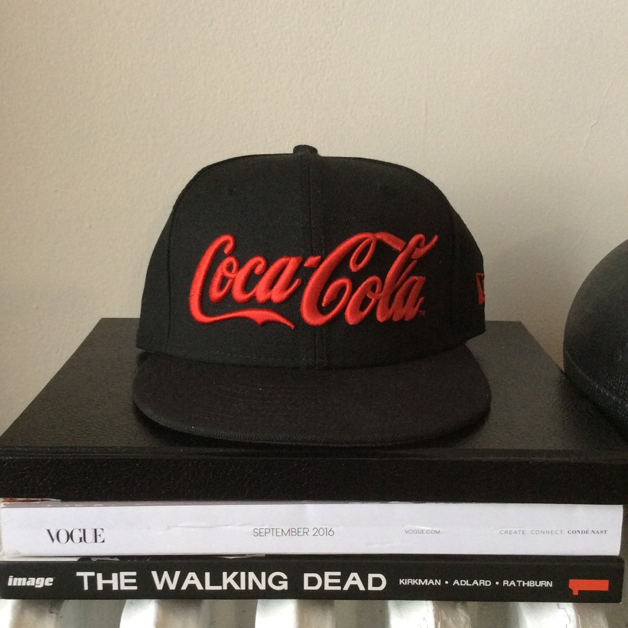 New Era fitted Coca-Cola hat. Worn once. Super dope. size 7 - Depop 582ed1260be