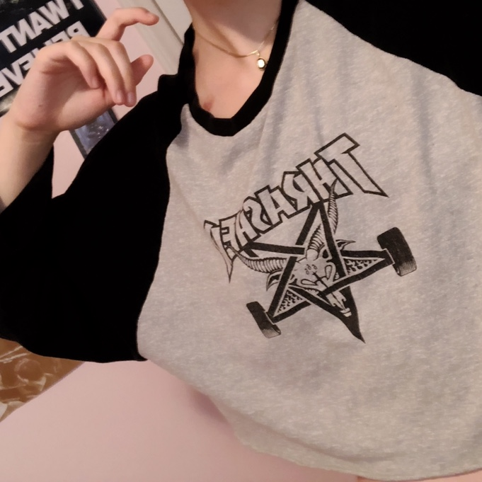 d7c25b6e1c59 thewildflowersociety. Durham, United States. ♤️Thrasher crop top!!♤ authentic  thrasher men's ...