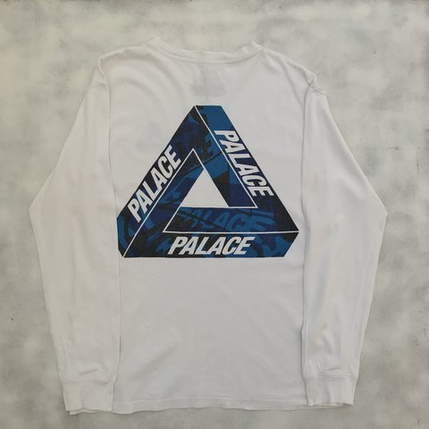 03e7c14fd6bd Palace One Wave Triferg Longsleeve t-shirt in White 6 10 - - Depop