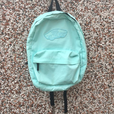 VANS backpack Pastel mint green colour. one large main and - Depop
