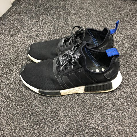 8c3cbf7c8 Adidas NMD Black. Size 10. Barley worn very good to listen - Depop