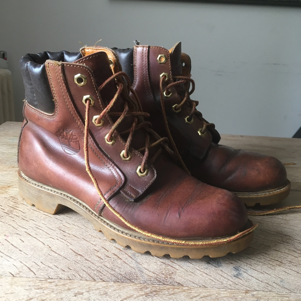 09b9505f0607e Vintage Timberland Boots. These are a real rare... - Depop