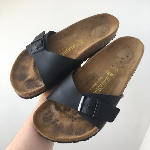 5a80336159d9 Birkenstock Sandals Black one strap sandals. RRP £50 Made - Depop