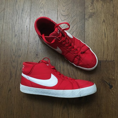 e5aa9863f9 ... discount code for vntg vintage nike blazer hi tops in red. size uk 11  but ...