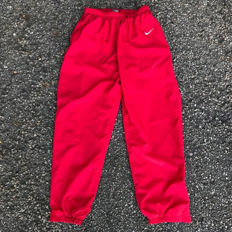 25a8459d53c76 @pvdvtg. 2 years ago. Pawtucket, United States. Vintage 90's Nike red track  pants ...