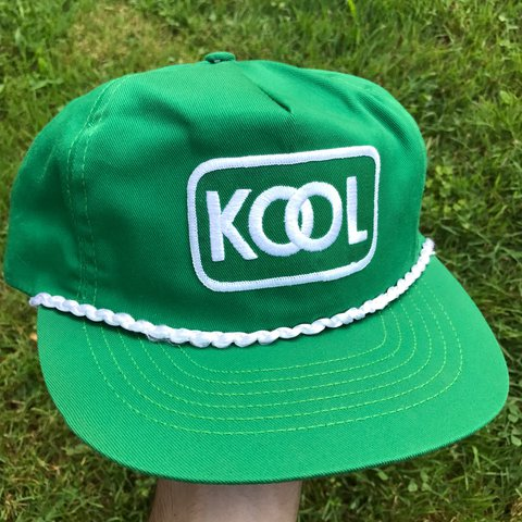 Vintage 90 s green KOOL cigarettes snapback rope hat   OS in - Depop e2a214a98c0f