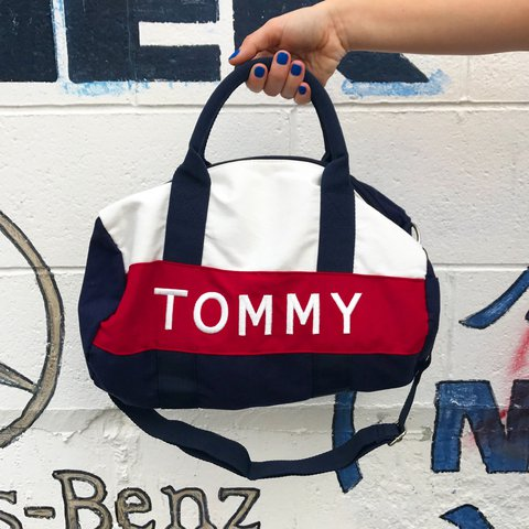 Vintage Tommy Hilfiger small duffle bag  FREE like new Tommy - Depop 2247c6ac90671