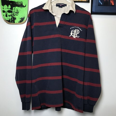 a5deffbad7f @pvdvtg. 2 years ago. Pawtucket, United States. Vintage Polo Sport long-sleeve  striped rugby shirt ...