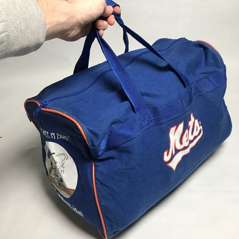 Vintage 90 s NY Mets Snoopy canvas duffle bag  FREE SHIPPING Good ... bd9ac626b87ad