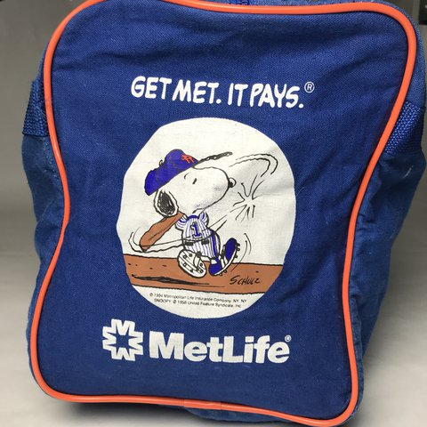danmcgrath. FollowingFollow. Vintage 90 s NY Mets Snoopy canvas duffle bag   FREE SHIPPING ced5c525a499d