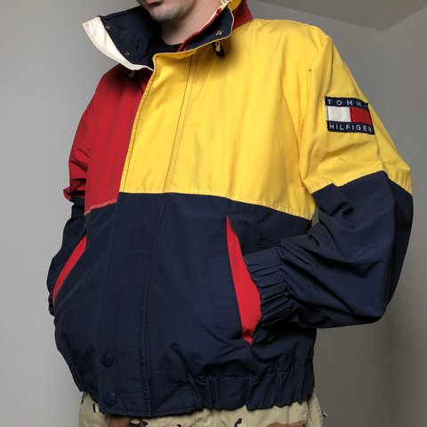 5c53c245a @pvdvtg. last year. Pawtucket, United States. 🔥🔥 Crazy vintage 90's Tommy  Hilfiger colorblock windbreaker jacket ...