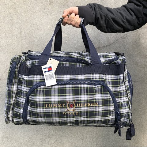 a0e30382 @pvdvtg. 3 months ago. Pawtucket, United States. ⛳ ⛳ Deadstock NWT Vintage  90's Tommy Hilfiger Golf tartan plaid duffel bag *FREE SHIPPING Brand new  ...