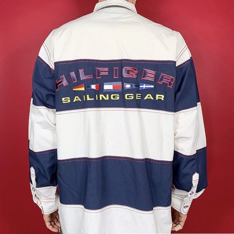 8bc1bf05 @pvdvtg. 5 months ago. Pawtucket, United States. ⛵ ⛵ Vintage 90's Tommy  Hilfiger Sailing Gear striped ...