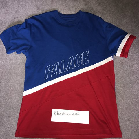 32128cd1 @bertieleverettt. 2 years ago. Leicester, United Kingdom. PALACE R STRIPE  TEE 10/10 condition ...