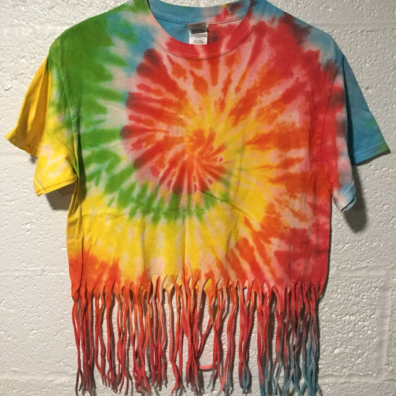 77eacccffaa4  zimothy666. 6 months ago. United States. Rainbow tie dye fringe shirt.