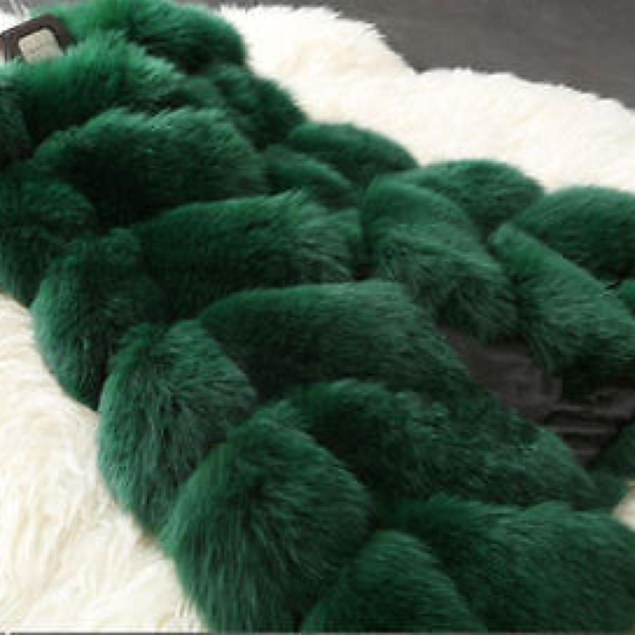 Picture of: Emerald Green Faux Fur Gilet All Sizes Available Depop