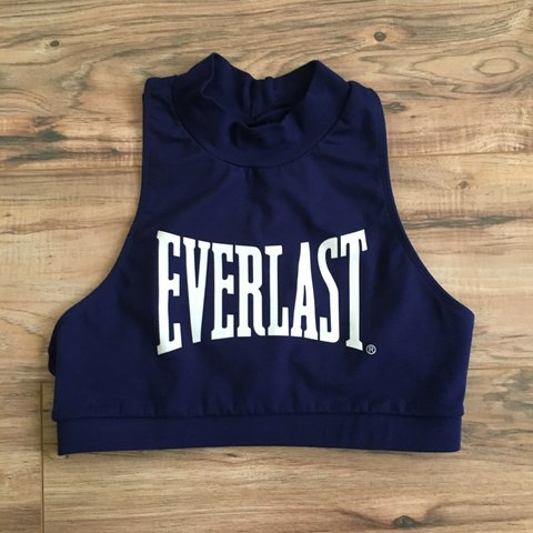 e016c40362c46 Vintage Everlast High-Neck Racerback Sports Bra. No cups and - Depop