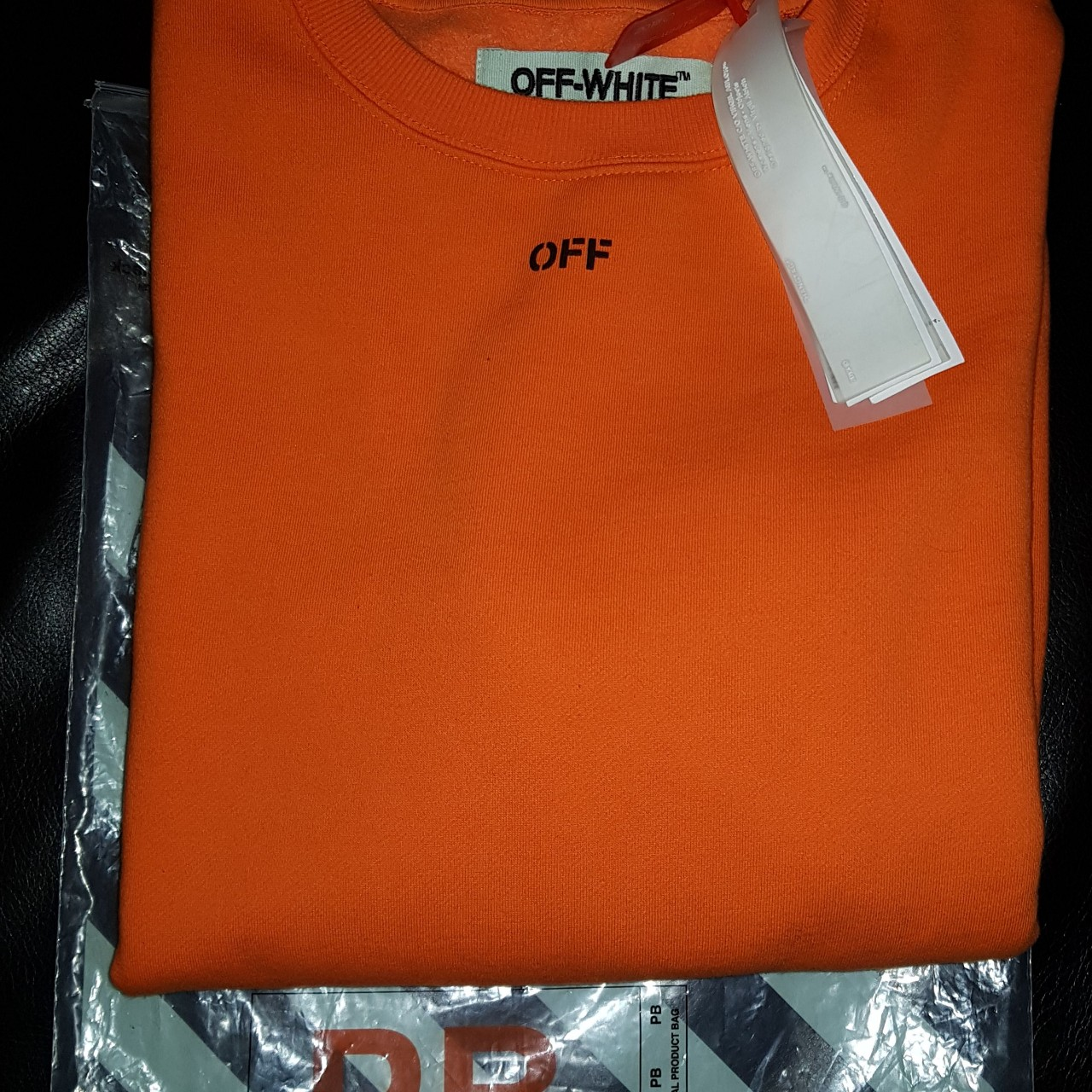 OFF WHITE X VLONE CREWNECK VERY RARE WITH ALL
