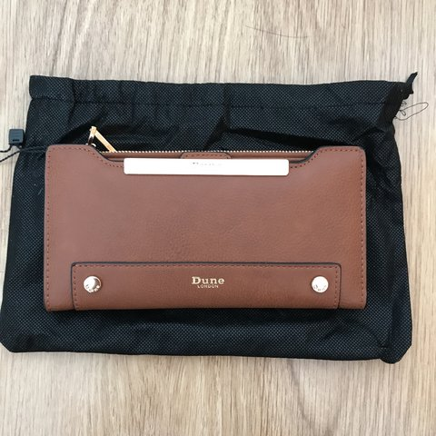 c7799bc9ca45 BRAND NEW DUNE LONDON PURSE IN TAN - LOADS OF CARD SPACE