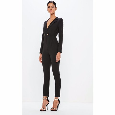 41f397512730 Missguided Peace + Love military black tailored jumpsuit NEW - Depop