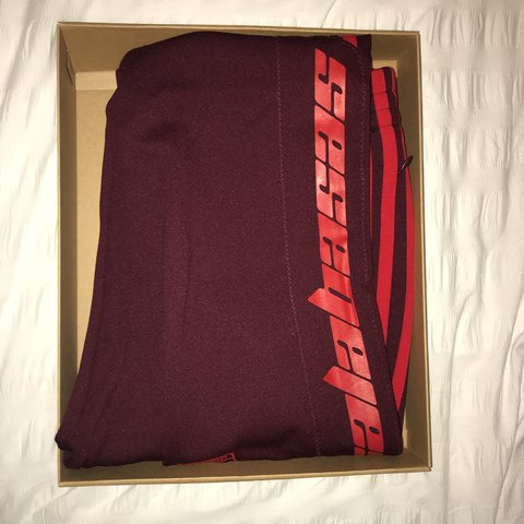 75eb7d48f Adidas Yeezy Calabasas Track Pants - Maroon. Size small. new - Depop