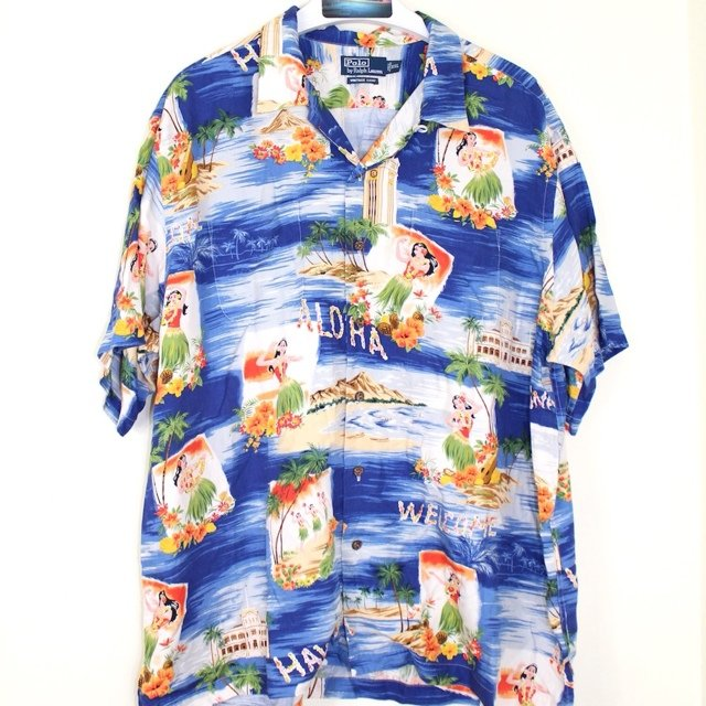 30af1fb6 @rarethreads. 5 years ago. London, UK. Item: Ralph Lauren Hawaiian Aloha  Shirt Detailed ...