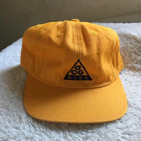 437525a462f Sold to  cherk215 2 vintage Nike acg hats yellow and Grey - Depop