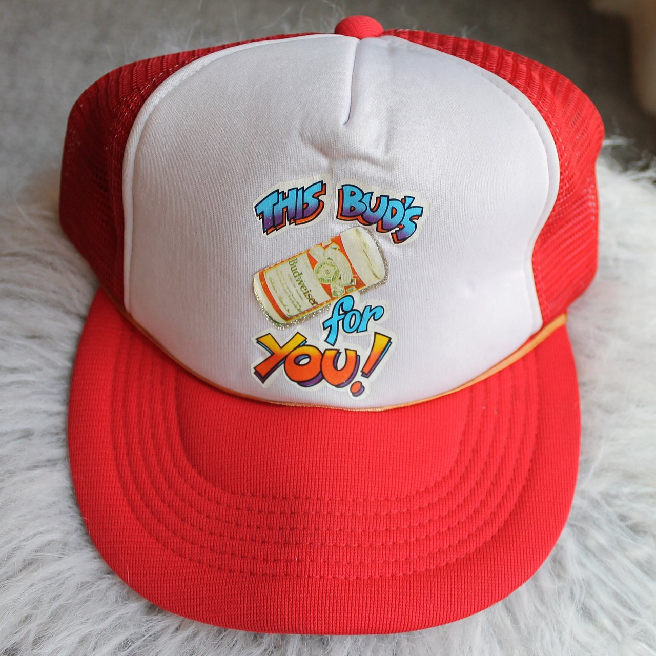 """bb0d73630c9 Vintage Bud Light """"this buds.  12.99. Nautica competition dad hat."""