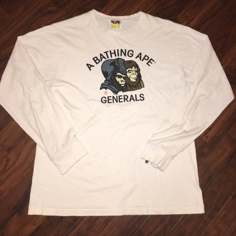 2a26c16b05b A Bathing Ape Bape Generals LS in white. Great condition
