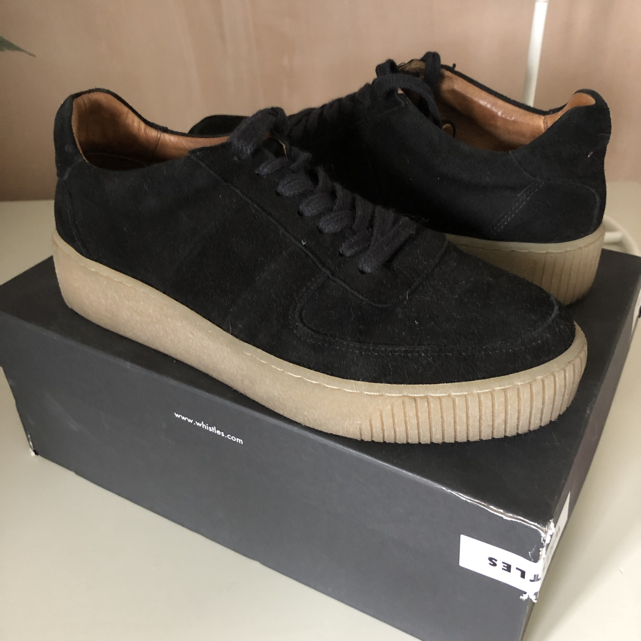 whistles black trainers