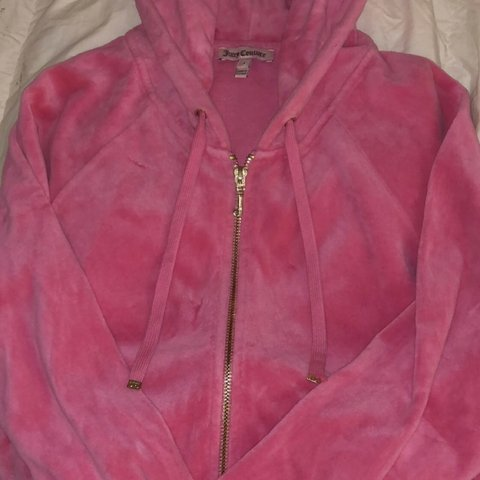 a576c98e86c43 @emilymills2. 5 months ago. Chigwell, United Kingdom. Women's size S barbie  pink velvet juicy couture tracksuit top/ hoodie ...
