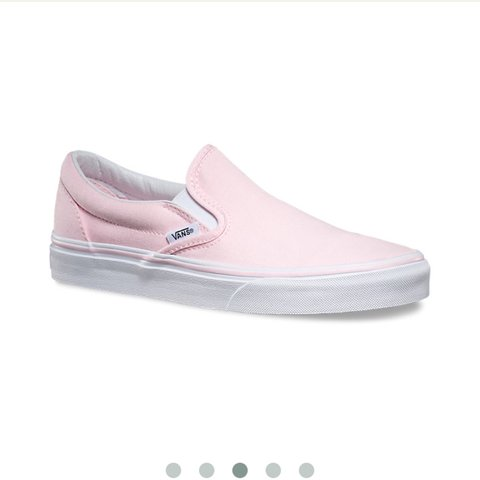 72a93ae96c7f Light pink slip on vans 💓🌷 only worn once when I realized - Depop