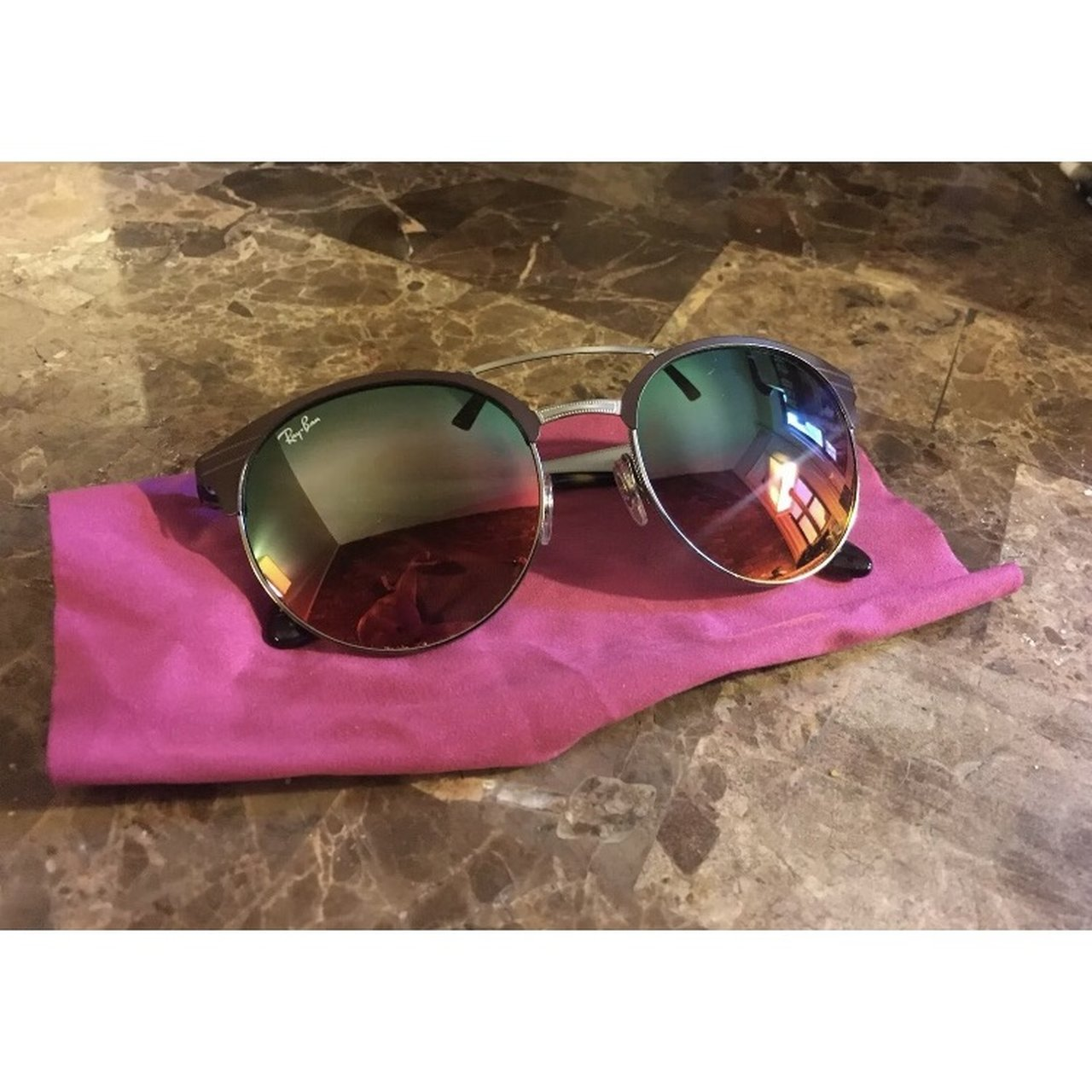 d06d735e71 Ray Ban RB3545 two tone sunglasses (Guaranteed with defect  - Depop