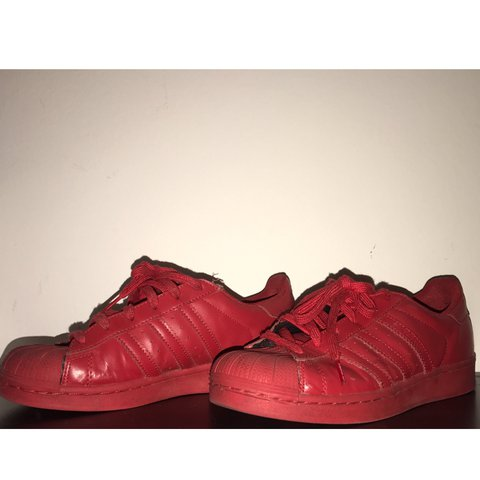 801d4e0cdd4c0 Pharrell Williams x original adidas collab. Red monochrome - Depop