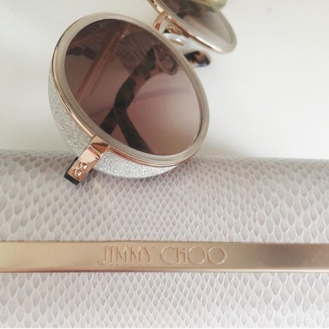 11c6fbcd9779 Jimmy Choo ANDIE sunglasses £319.00 Shaded Mirror Gold Round - Depop