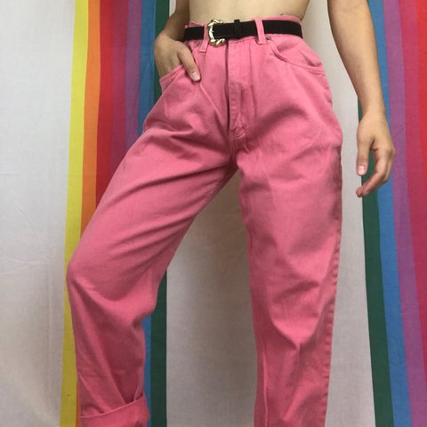 e597875a @colorclub. 2 years ago. Virginia Beach, United States. Vintage pink high  waisted jeans in great condition ...