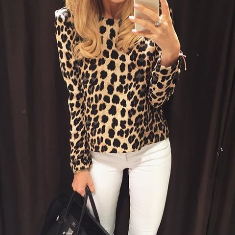 8718132a534aa MESSAGE BEFORE BUYING  Gorgoues Zara leopard print long   - Depop