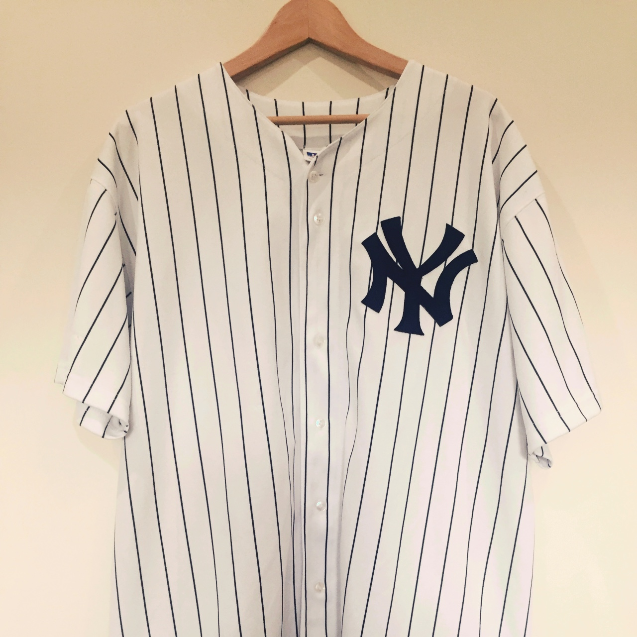 best service 99cd2 5c7c4 New York Yankees Baseball Jersey with Giambi #25 ... - Depop