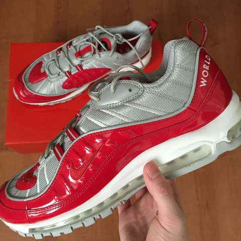 sports shoes 1ad34 80295  ahindmarch. 3 years ago. Gateshead, United Kingdom. Supreme x Nike Air Max  98. Deadstock condition.