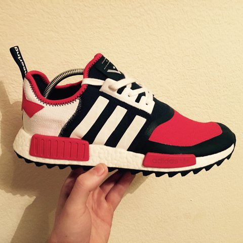 ad4deaed0a787 Adidas x White Mountaineering NMD Trail Navy Red   100%     - Depop