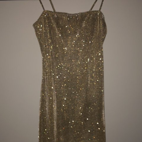 1a879463 In the style Gold Sparkly Bodycon Dress, Tag still attached, - Depop