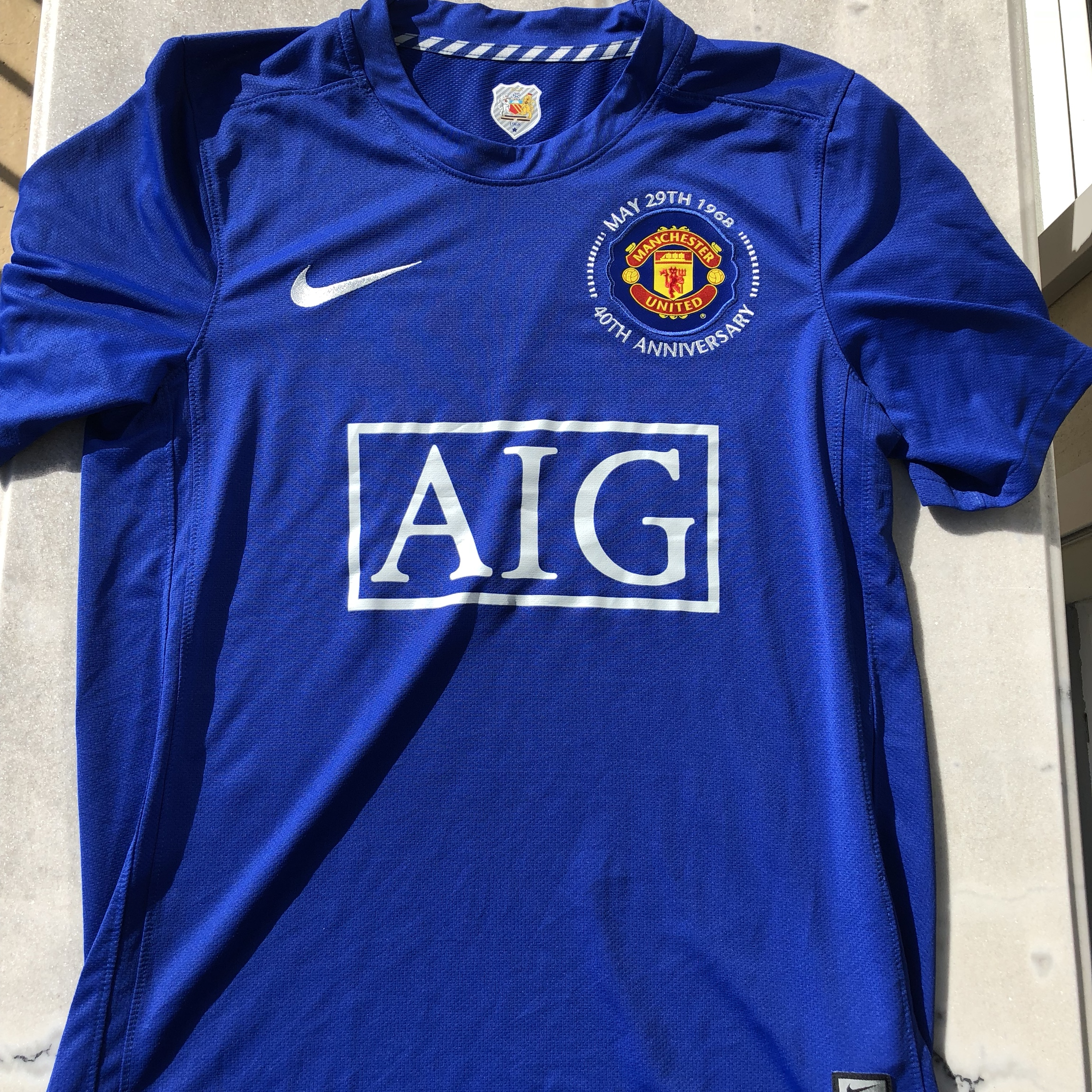 detailed look ca1ea 5a9de Manchester United Third Kit 08/09 40th Anniversary... - Depop